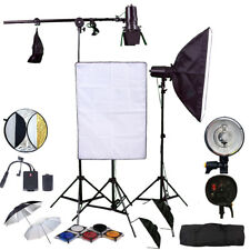 3X150W Kit de Flash Estroboscópico Pro Estudio fotográfico de iluminación de Flash Softbox Panal TRANSM
