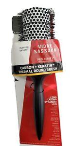 VIDAL SASSOON PRO SERIES CARBON KERATIN ROUND BRUSH LONG LASTING STRAIGHT LOOK