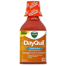 Vicks Dayquil Cold - Flu Multi-Symptom Relief Liquid 12 oz