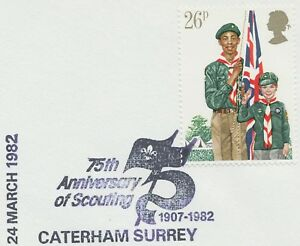 GB 1982, Youth Organisations 26 P 75th Anniversary of Scouting - CATERHAM SURREY