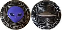 Area 51 Groom Lake Nevada Alien Challenge Coin  25