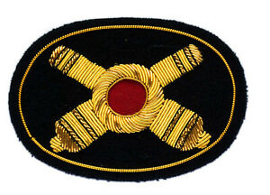Artillery Hat Insignia 9X6cm, Wire Bullion embroidered, New GIE502