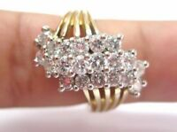 Round Cut Diamond Cluster Ring 14Kt Yellow Gold 2.65Ct G-VS2