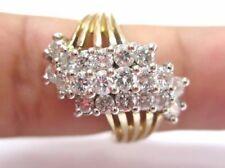 Fine Round Brilliant Diamond Cluster Diamond Yellow Gold Ring 2.65Ct
