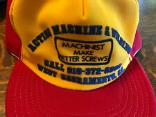 VTG 80's Semco USA Snapback Trucker Cap Machinist Make Better Screws Hat
