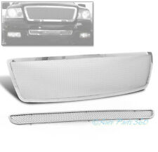 06-08 FORD F-150 HONEYCOMB FRONT UPPER STAINLESS STEEL MESH GRILLE GRILL CHROME
