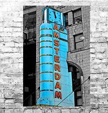 Impresionante Nueva York Paisaje Urbano #10 Pop Art Calidad enmarcado cuadro Lienzo Pared Arte