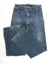 Goldsign Jeans Womens Sz 29 Blue Buttons & Tabs Distressed Details Designer