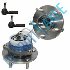 NEW 4 pc Kit - 2 Front Wheel Hub Bearing Assembly w/ ABS FWD + 2 Outer Tie Rod