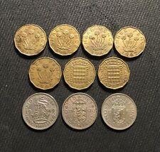 Great Britain 3 Pence & Shilling Coin Lot - 1942-1967 - George VI, Elizabeth