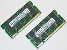 1GB X 2 = 2GB Samsung DDR2-800 PC2-6400 Laptop RAM Memory SODIMM LOW DENSITY Kit