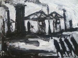 "Original Northern Art Painting ""Industrial Landscape"""