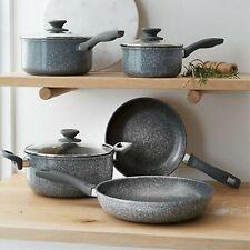 New 5 Piece Cookware Set Frypan Casserole Saucepan Pot Non-stick Fry Pan Cooking