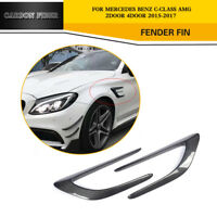 Carbon Fiber Front Fender Scoop Vent Trims Fit for Benz W205 C63 AMG 15-17