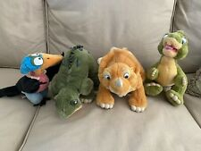 Land Before Time 1988 Plush Toys Set: Cera, Spike, Petrie, & Ducky