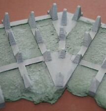 MGM 070-016 1/72 Resin WWII German Dragon Teeth Line Type 1938 Cranked - Set II