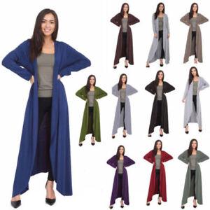 New Womens Ladies Long Sleeve Floaty Maxi Boyfriend Open Summer Cardigan 8-26 Uk