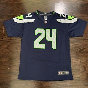 Nike Seattle Seahawks NFL Football #24 Marshawn Lynch Jersey Youth XL 12th Man