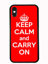 Red Keep Calm and Carry On For Iphone XS MAX 6.5 2018 Case