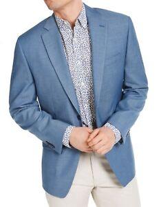 Michael Kors Mens Suit Jacket Blue Size 44 S Stretch Two Button Blazer $295 039