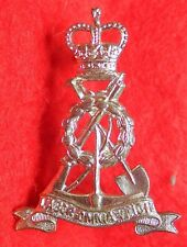 Pioneer Corps  Silvert Cap Badge  with Lugs 1960