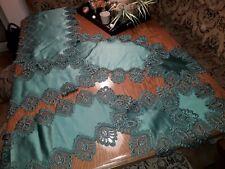 Tischdecken, Läufer, Deckchen, Plauener Spitze, Set, Grün