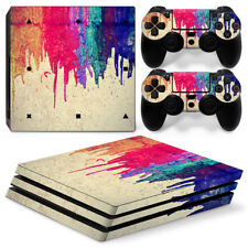 [PS4 Pro]  Colorful VINYL SKIN STICKER DECAL Cover Console &2 Controllers
