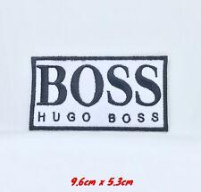 Hugo Boss Marke Abzeichen Weiß Bestickt Eisen Aufnäher #1271W