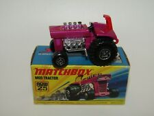 Matchbox Superfast No 25 Mod Tractor RED SEAT MIB VERY RARE