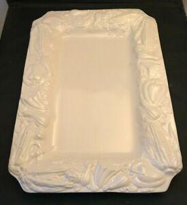 Williams Sonoma Large White Feasting Serving Platter w/ Harvest Vegetables VTG
