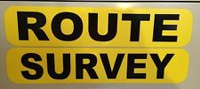 "4"" x 20"" Magnetic Signs - ROUTE SURVEY - Pilot Car/Escort Vehicle/Oversize Load"