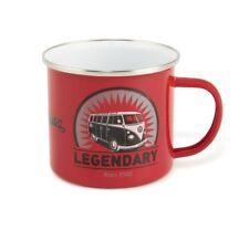 Official VW Camper Van Enamel Tin Mug in gift box - Legendary (Red)