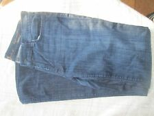 7 For All Mankind Denim Flat Front STRETCH High Waist Bootcut Jeans 31x32