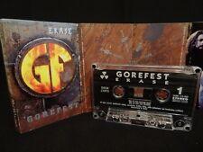 GOREFEST Erase / 1994 / MC CASSETTE ( EX ) AT THE GATES, ENTOMBED, GRAVE
