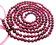 NICE Indian Garnet Gemstone Natural Bead Strand Jewelry Supplies Round A++ NR!
