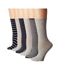 LAUREN RALPH LAUREN Womens ROLL TOP Trouser Socks 6 PAIRS Navy Asst $18 - NWT