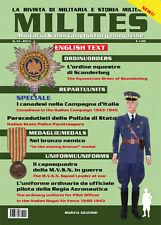 MILITES  n.51 rivista militaria magazine Scanderbeg Paracadutisti Polizia MVSN