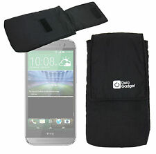 Premium Quality Smartphone Sleeve/Pouch Case for HTC One (M8) in Black