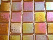 Iridescent Mosaic Tiles Tessera, Tesserae 20mm. 225 Tile Pack, Sun Yellow