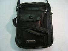 LEATHER SHOULDER BAG WITH WRIST HANDLE IDEAL 4 TRAVEL