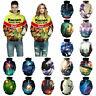Men Women's 3D Animal Hoodie Sweater Sweatshirt Jacket Coat Pullover Unisex Tops