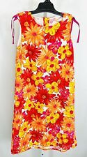 Hanna Andersson Size 150/ 12 Girls Sundress Sleeveless Red Orange Yellow Floral