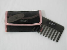 (1) NEW Victoria's Secret Pink Hair Brush/Comb + Holder *FREE SHIP*