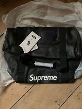 Supreme x Nike FW 19 Leather Duffel Bag Black New w Tags