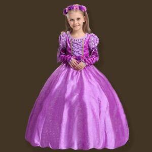 Rapunzel Vestito Bambina Costume Carnevale Compleanno Sofia