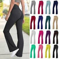 Women Bootcut Yoga Pants Bootleg Flared Trousers Casual Stretch Sports Leggings