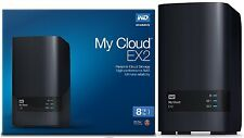 WD 8TB My Cloud EX2 Network Attached Storage Hard Drives - NAS - WDBVKW0080JCH
