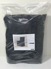 Restoration Hardware Belgian Track Armchair SLIPCOVER Textured Linen Black $520