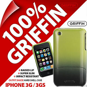 New Griffin Outfit Shade Case Hard Shell Cover for iPhone 3G 3GS Lime Green/Grey