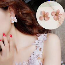 Fashion Boho Painting Big Flowers Ear Stud Earrings Women Charm Jewelry Gifts